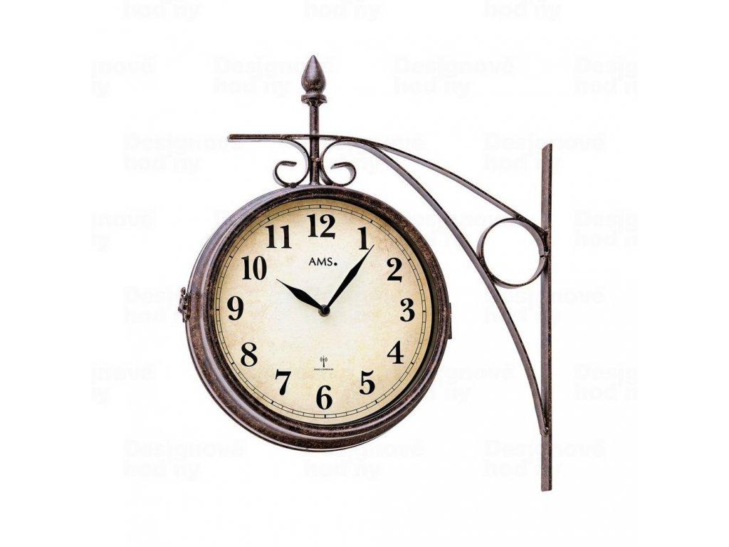Oboustranné nástěnné hodiny 5966 AMS řízené rádiovým signálem 23cm