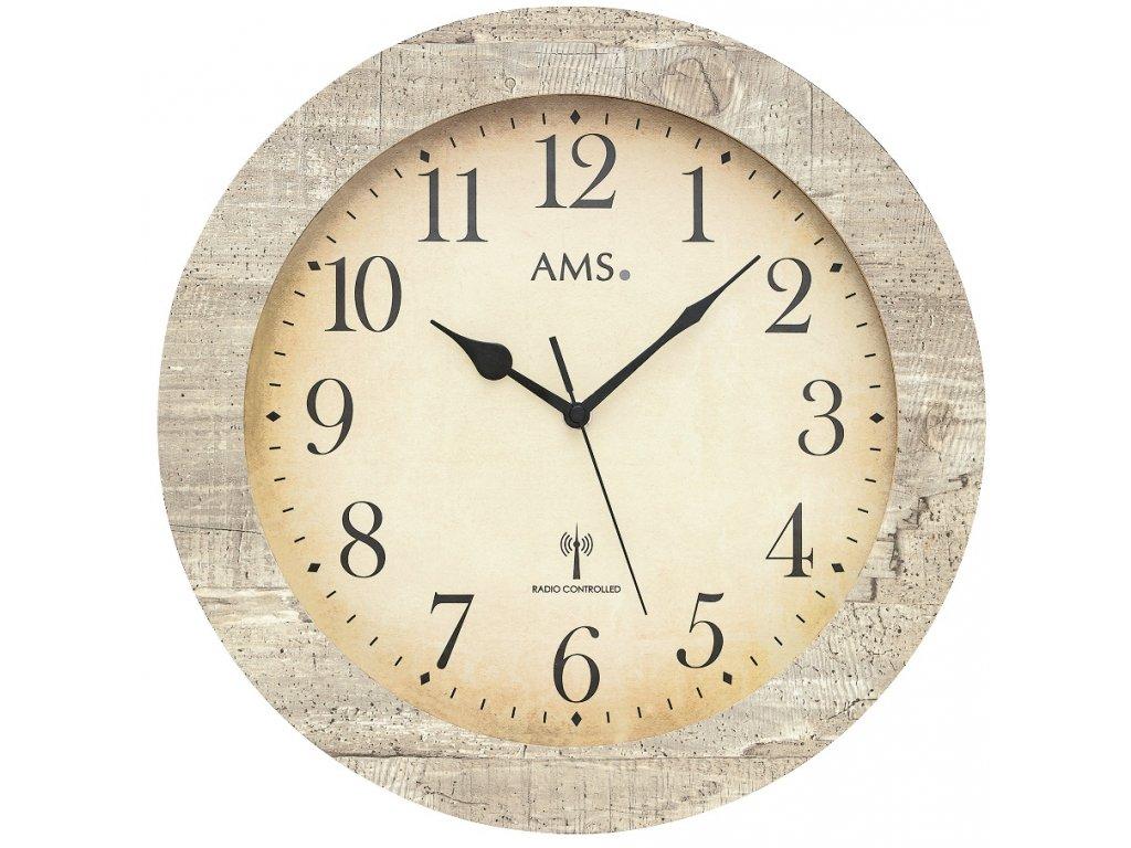 Designové nástěnné hodiny 5561 AMS řízené rádiovým signálem 35cm