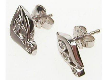 Náušnice s diamanty z bílého zlata 13/57103