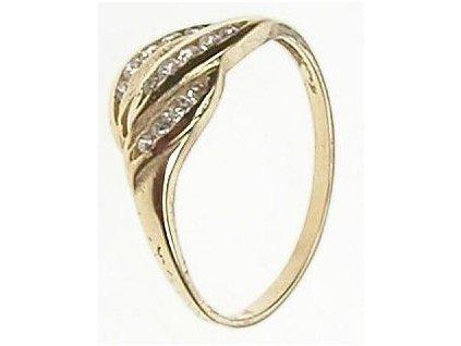Prsten ze žlutého zlata se zirkony 43/93559