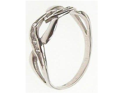 Prsten se zirkony bílé zlato 43/93573