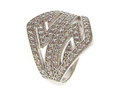 Prsten bílé zlato se zirkony 13/56943