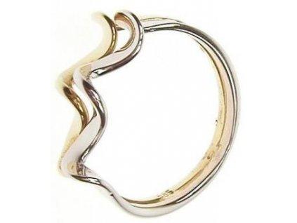 Prsten ze žlutého a bílého zlata 43/56870