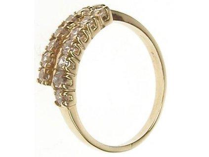 Prsten zlatý se zirkony 13/54292