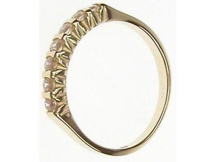 Prsten zlatý s bílými kamínky 13/44948