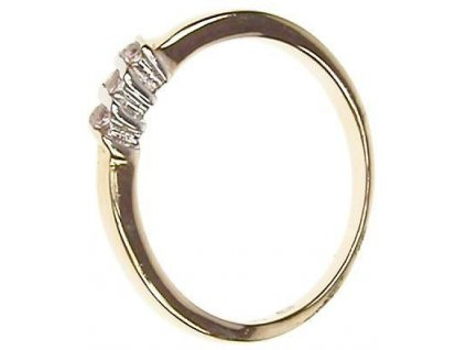 Prsten zlatý se zirkony 13/48268