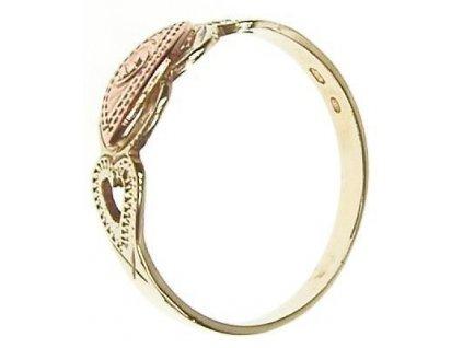 Prsten ze žlutého a červeného zlata 1/23177