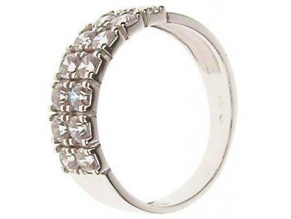 Prsten z bílého zlata se zirkony 43/95337