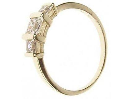 Prsten zlatý se třemi zirkony 13/58918