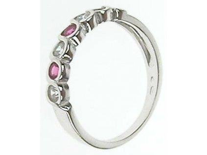 Prsten z bílého zlata se zirkony 13/56571