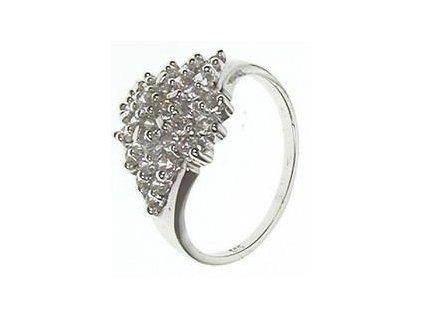 Prsten z bílého zlata se zirkony 13/56942