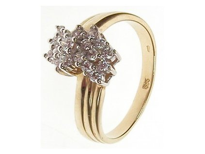Prsten zlatý se zirkony 4/34949
