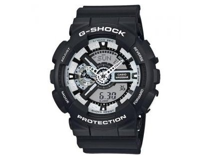 CASIO GA-110BW-1A G-Shock White and Black Series