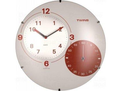 Nástěnné hodiny Twins 353 white 35cm