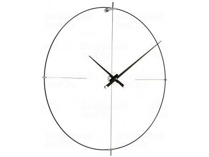 Designové nástěnné hodiny Nomon Bilbao L black 110cm