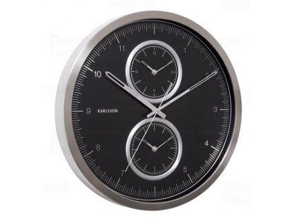 Designové nástěnné hodiny KA5508BK Karlssson 50cm