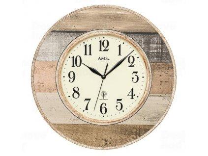 Nástěnné hodiny 5975 AMS řízené rádiovým signálem 35cm