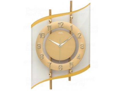 Designové nástěnné hodiny 5505 AMS řízené rádiovým signálem 45cm