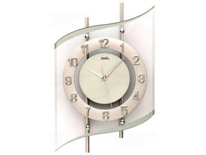 Designové nástěnné hodiny 5506 AMS řízené rádiovým signálem 45cm