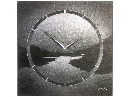 Designové nástěnné břidlicové hodiny 9512 AMS 30cm