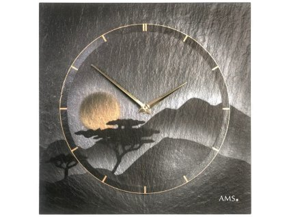 Designové nástěnné břidlicové hodiny 9514 AMS 30cm