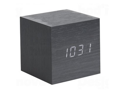 Designový LED budík - hodiny 5655BK Karlsson 8cm
