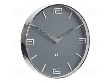 Designové nástěnné hodiny Future Time FT3010GY Flat grey 30cm