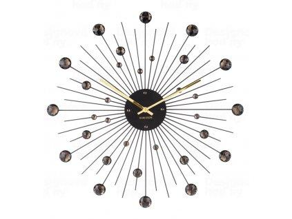 Designové nástěnné hodiny 4859BK Karlsson 50cm