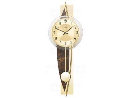 Designové nástěnné kyvadlové hodiny 7453 AMS 67cm
