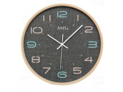 Designové nástěnné hodiny 5513 AMS řízené rádiovým signálem 28cm