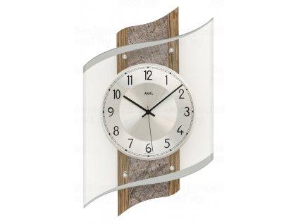 Designové nástěnné hodiny 5518 řízené rádiovým signálem AMS 48cm