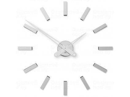 Designové nalepovací hodiny Future Time FT9600SI Modular chrome 60cm