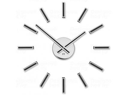 Designové nalepovací hodiny Future Time FT9400BK Modular black 40cm
