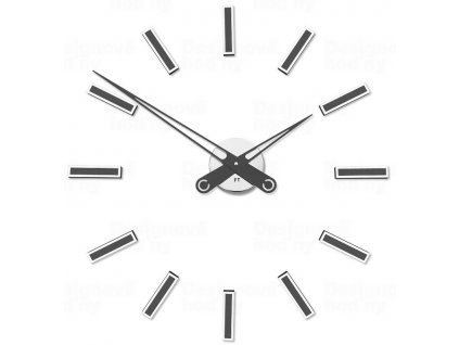 Designové nalepovací hodiny Future Time FT9600TT Modular titanium grey 60cm