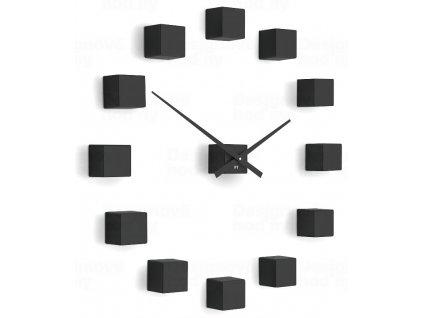 Designové nástěnné nalepovací hodiny Future Time FT3000BK Cubic black