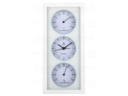 Nástěnné-stolní hodiny s teploměrem a vlhkoměrem JA7071B Lowell 26cm