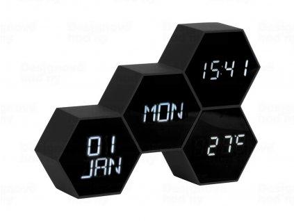 Digitální nástěnné/stolní hodiny KA5805BK Karlsson 18cm