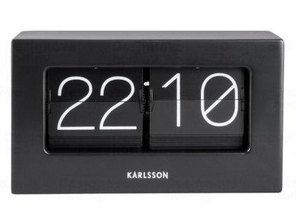 Designové stolní překlápěcí hodiny 5620BK Karlsson 21cm