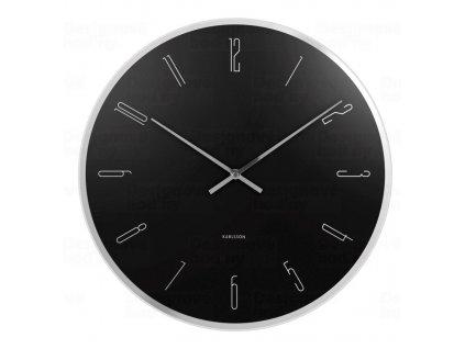 Designové nástěnné hodiny 5800BK Karlsson 40cm