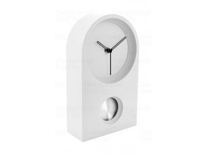 Designové stolní kyvadlové hodiny 5801WH Karlsson 25cm