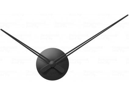 Designové nástěnné hodiny 5838BK Karlsson black 44cm