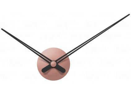 Designové nástěnné hodiny 5838PI Karlsson pink 44cm