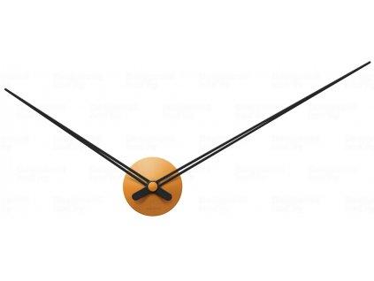 Designové nástěnné hodiny 5837BR Karlsson caramel brown 90cm