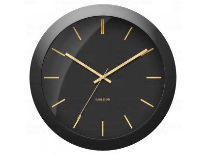 Designové nástěnné hodiny 5840BK Karlsson 40cm