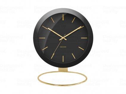 Designové stolní hodiny 5832BK Karlsson 25cm