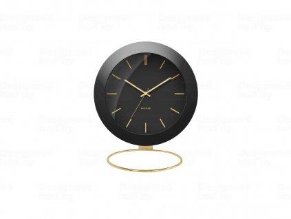 Designové stolní hodiny 5833BK Karlsson 10,5cm
