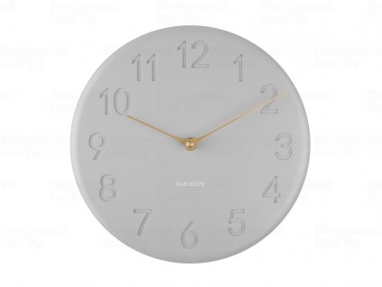 Designové nástěnné hodiny 5771GY Karlsson 25cm
