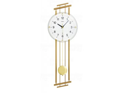 Designové nástěnné hodiny 5315 řízené rádiovým signálem AMS 65cm