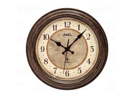 Designové nástěnné hodiny 5544 AMS řízené rádiovým signálem 28cm