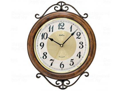 Designové nástěnné hodiny 9565 AMS 37cm s melodii Westminster